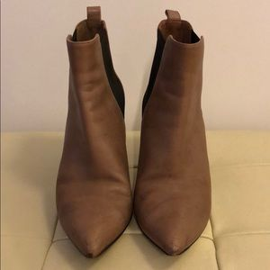 Michael Michael Kors Tan Leather Ankle Booties